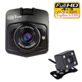 Dual Lens Camera Car DVR Topbox GT300 Dash Cam Full HD 1080P Video Registrator Recorder Backup Rear View Camera Night Vision Box