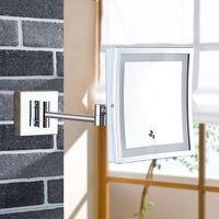 Гурун настенный увеличительное Ванная комната Led освещенный, подсвеченный зеркало для макияжа оформлена площадь выдвижная зеркало для бри