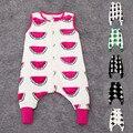 2016 Novo Bebê BB Menino Infantil Menina Mangas de flanela quente Roupas Corpo Romper 0-12 M branco/preto cross/water melon/coelho/floresta