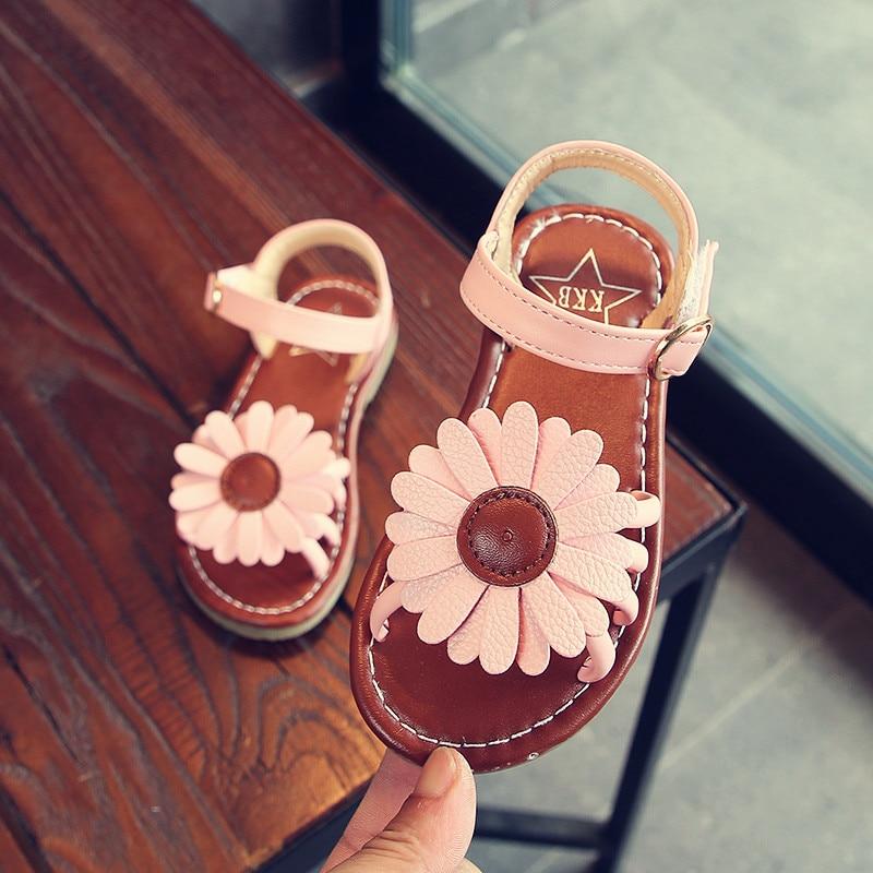 NEW Flower Girl Sandals 2019 Summer New Fashion Beach Children'S Shoes Princess Kids Sandals 1 2 3 4 5 6 7 8 9 10 11 12 Year Old