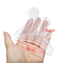 2Pcs Transparent Silicone Heel Sticker Gel Foot Care Massage Health Care Product Massager Muscle Foot Massage Pain Stress Relief