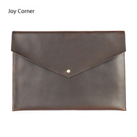 Joy Corner Cow Leather A4 Organizer Document Folder Bag For Documents A4 Paper Management Pastas Escolar