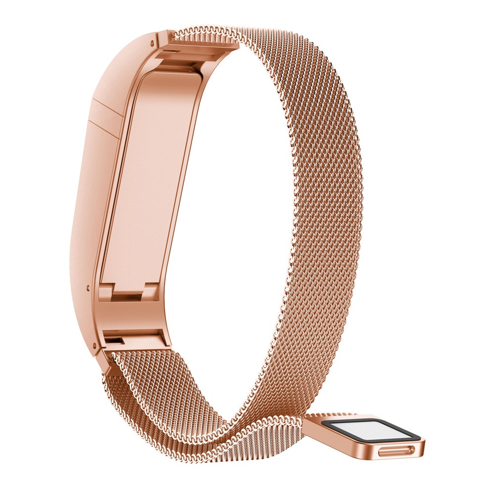 Bracelet For Fitbit Flex 2 Strap Milanese Magnetic Loop Stainless Steel Smart Band Accessories Adjustable Large Size Belt MA23f ...