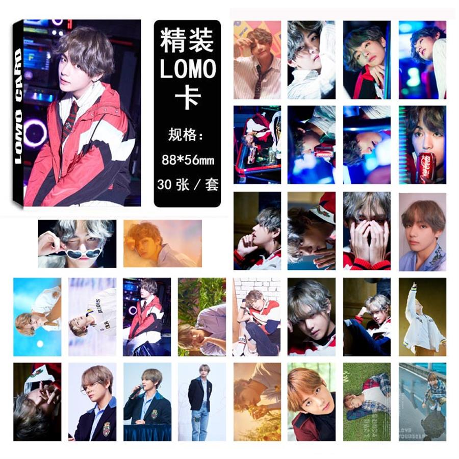 Jewelry Findings & Components Jewelry & Accessories Kpop Bts Love Yourself Kim Taehyung Personal Lomo Photo Card Bangtan Boys V Fans Collective Photocard 30pcs/set Aesthetic Appearance