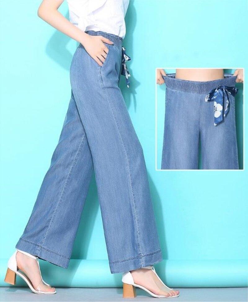 00c49d1410a7 Taille Neuf Femelle Pu Qualité Large Pantalon De 2019 Jambe La Haute Lâche  Cowboy 4xl Jeans D été Plus Mode S Ciel Femmes HYwEx