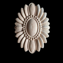 Unpainted Wood Carved Corner Onlay Applique Frame For Furniture Flower Carving Decals Decorative Wooden Mouldings