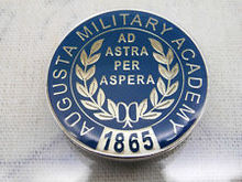 METAL COINS CUSTOM LOW PRICE  AUGUSTA MILITARY ACADEMY CHALLENGE COIN HIGH QUALITY