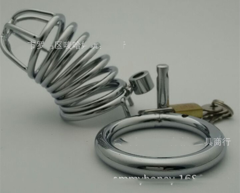 Chastity Lock Stainless Steel Male 3 ring Chastity Device Cock Cage Virginity Lock Penis Ring Penis Lock black emperor sm interest stainless steel male ccb chastity lock adult toys penis ring anal plug
