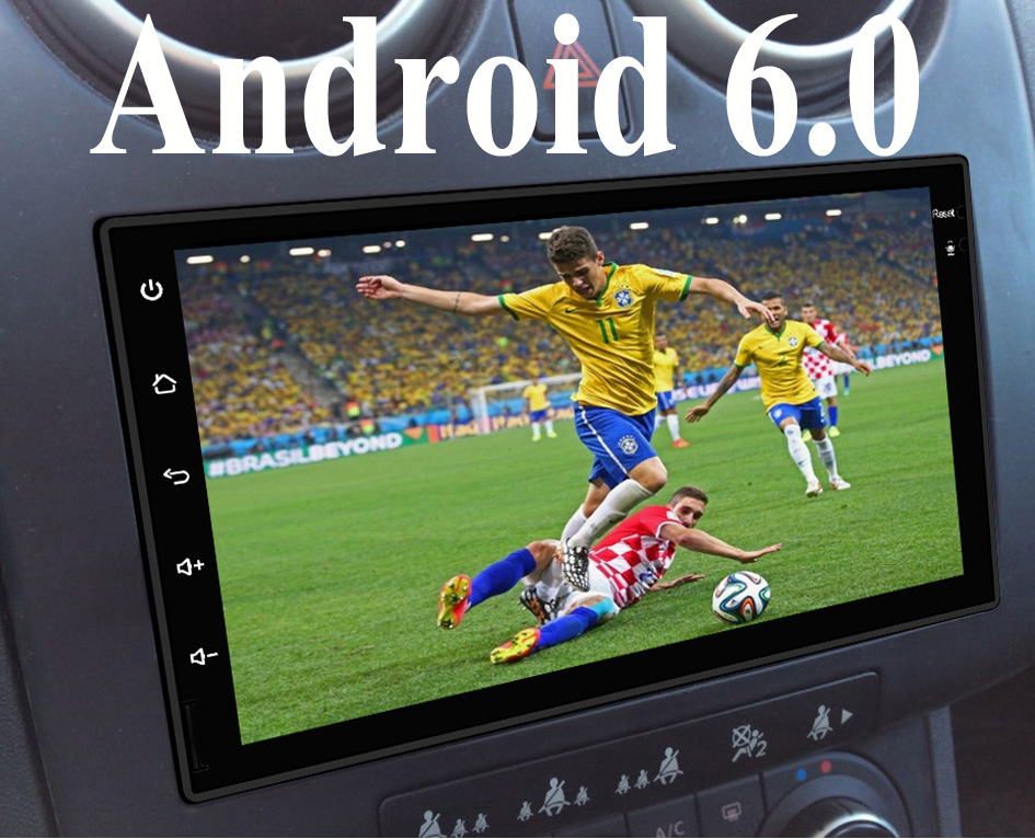 Android 6.0 Double 2 Din tape recorder monitor Stereo GPS Navigation Car Radio Player 4G wifi BT GPS Quad Core Headunit