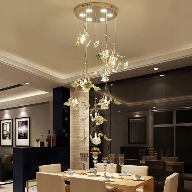 Led woonkamer hanglampen moderne minimalistische keramische crystal ...