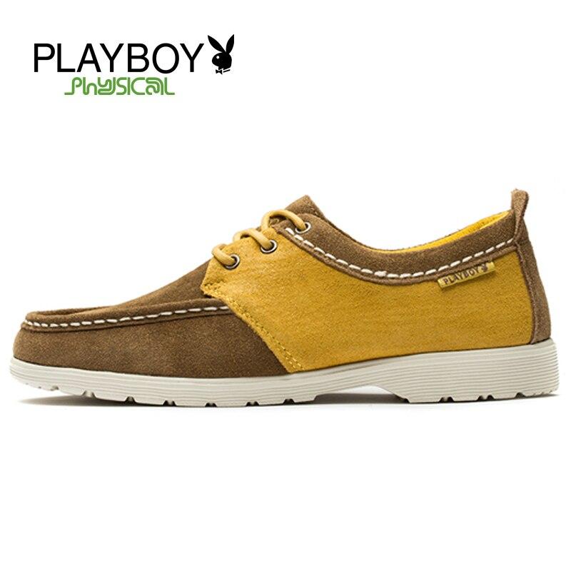 Playboy Fashion Men Brand Shoes Genuine