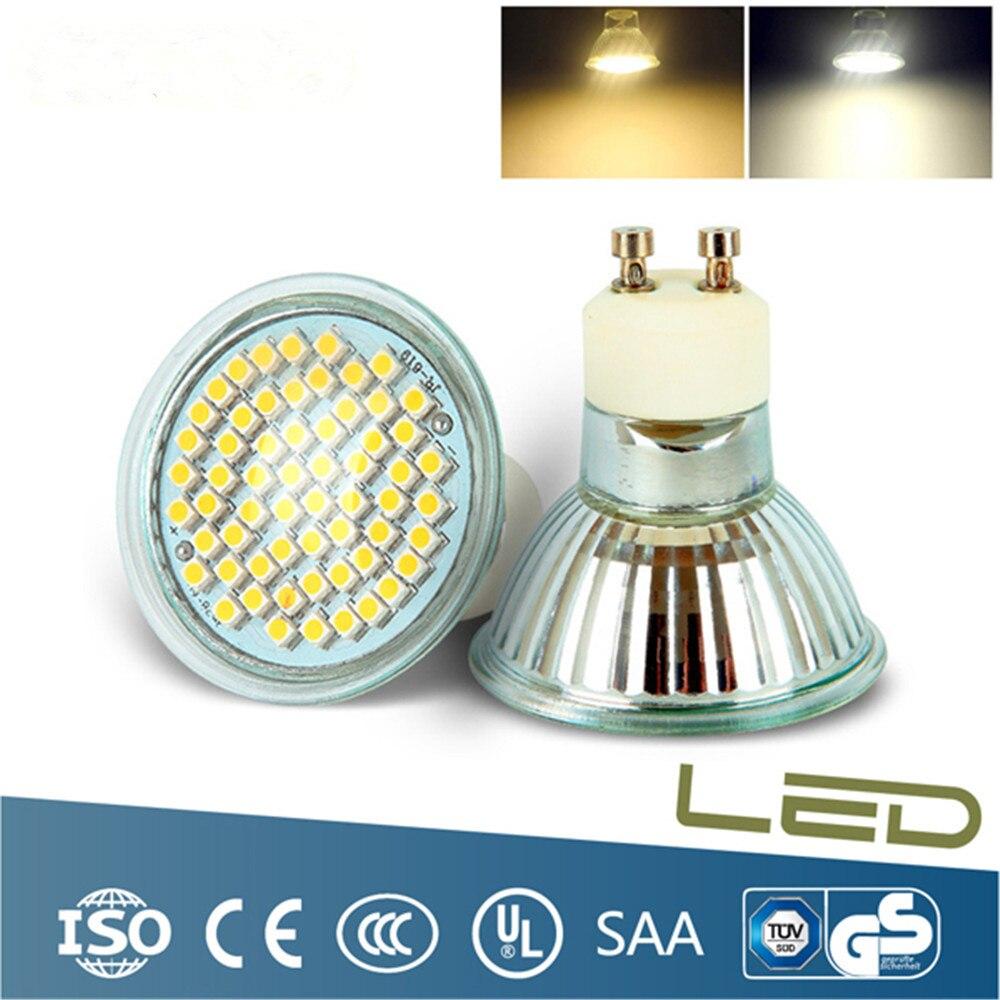 High Quality GU10/MR16 Spotlight Bulb AC210-240V LED lamp 2835 SMD 60 LEDs light For Indoor Chandelier Downlight mr beams светильник mr beams spotlight led на батареях с сенсорами корпус белый