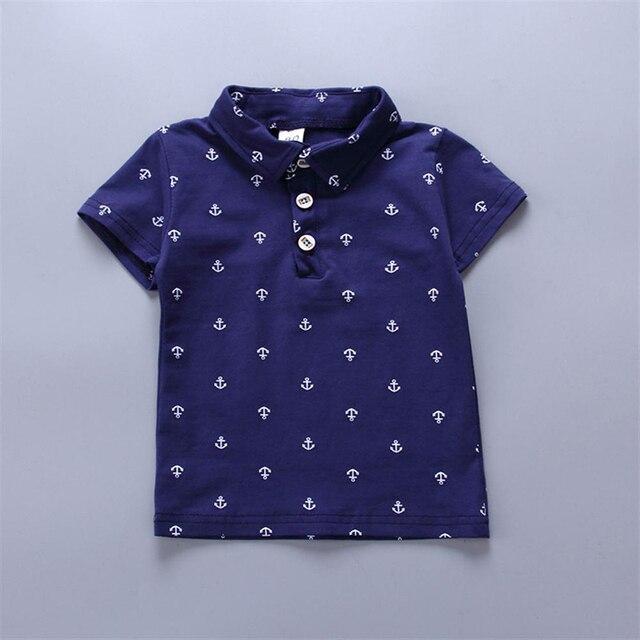 Newborn navy blue shirt and khaki short set for baby boy 2