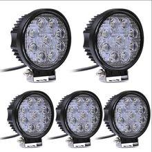 2pcs 12V 24V 27W LED Car Work Light Bar 12V Spot LED Light Bar for Motorcycle LED Car Foglight for Off Road For Jeep VW Toyota