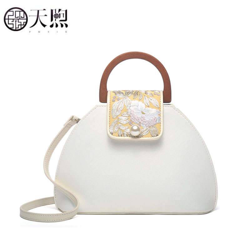 Pmsix New Women bag luxury handbags designer Genuine Leather handbags fashion embroidery tote women shoulder bagPmsix New Women bag luxury handbags designer Genuine Leather handbags fashion embroidery tote women shoulder bag