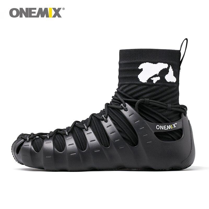Onemix gladiator shoes for men walking shoes for women outdoor trekking shoes no glue sneakers autumn winter warm keeping shoes new hot onemix winter men s trekking