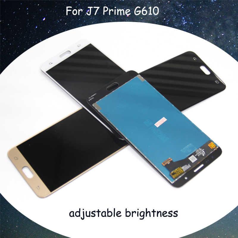 لسامسونج J7 رئيس شاشات lcd لسامسونج galaxy J7 رئيس G610F G610M شاشة إل سي دي باللمس قطع تجميع الشاشة مع التحويل الرقمي الكامل