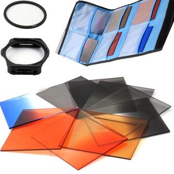 12 In 1 Lens Filter Kit 49,52,55,58,62,67,72,77,82,mm Gradient Filter Lens Adapter Ring Bag Case For SX30 SX40 SX50
