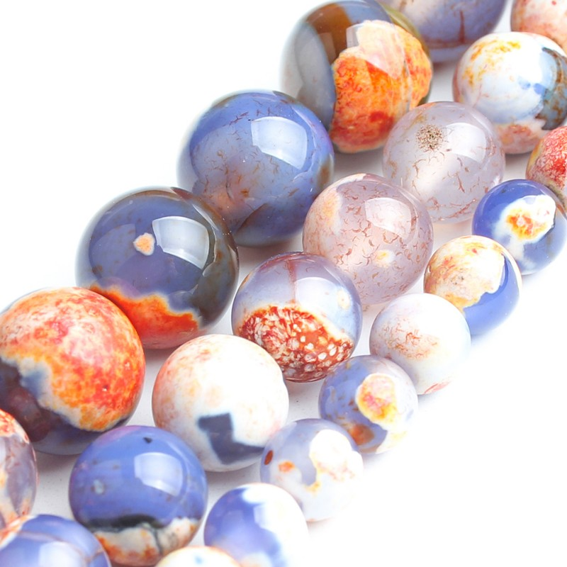 Orange Blue Fire Agate For Jewelry Making Necklace Natural Round Loose Stone Beads Diy Bracelet Necklace Pick Size15 6 8 10mm Orange Blue Fire Agate For Jewelry Making Necklace Natural Round Loose Stone Beads Diy Bracelet Necklace Pick Size15 6 8 10mm