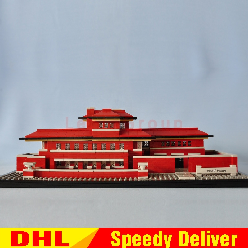 Lepin 17007 2326Pcs Genuine Architecture Series The Robie House Building Blocks Bricks legoings Toys Model Clone 21010 lepin 17007 in stock 2326pcs genuine architecture series the robie house set educational building blocks bricks toys model 21010