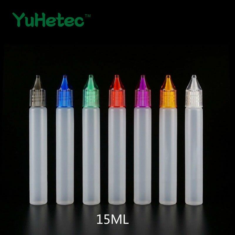 5PCS YUHETEC 10ML/15ML/30ML Capacity PE E-liquid Bottle For TFV12 Prince/Coil Father King RDTA/vape Pen 22/INTAKE RTA/Aspire AVP