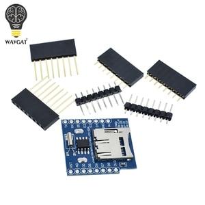 В режиме реального времени часы журнал данных щит регистратора для Micro SD WeMos WIFI D1 Мини плата + RTC DS1307 часы для Arduino Raspberry