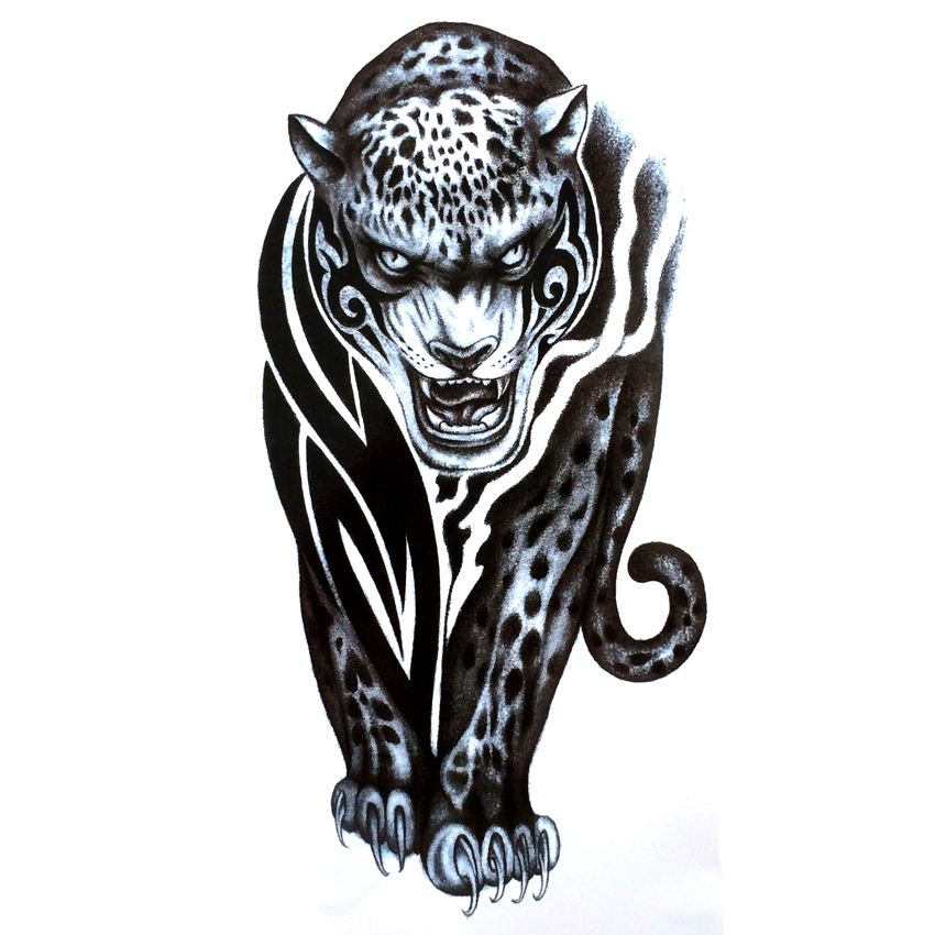3pcs Predatory Cheetah Waterproof Temporary Tattoo Stickers Tatoo Sticker Harajuku Tattoo Body Art Animal Temporary Tattoos
