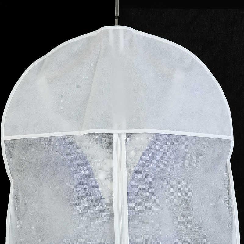 Biała krawędź różowa krawędź na ślub długa suknia wieczorowa osłona przeciwpyłowa włóknina odzież pyłoszczelna torby ochronne nadrukowane logo
