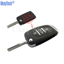 OkeyTech 3 Buttons Modified Flip Remote Key Shell Fob For Peugeot 307 408 308 For Citroen C2 C3 C4 C5 C6 Xsara Grand Picasso