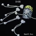 D105  10pcs/lot  Heart Rhinestone Ball And Chain Pendant DIY Nail Art Glitters Nails Tips Decoration All Accessories