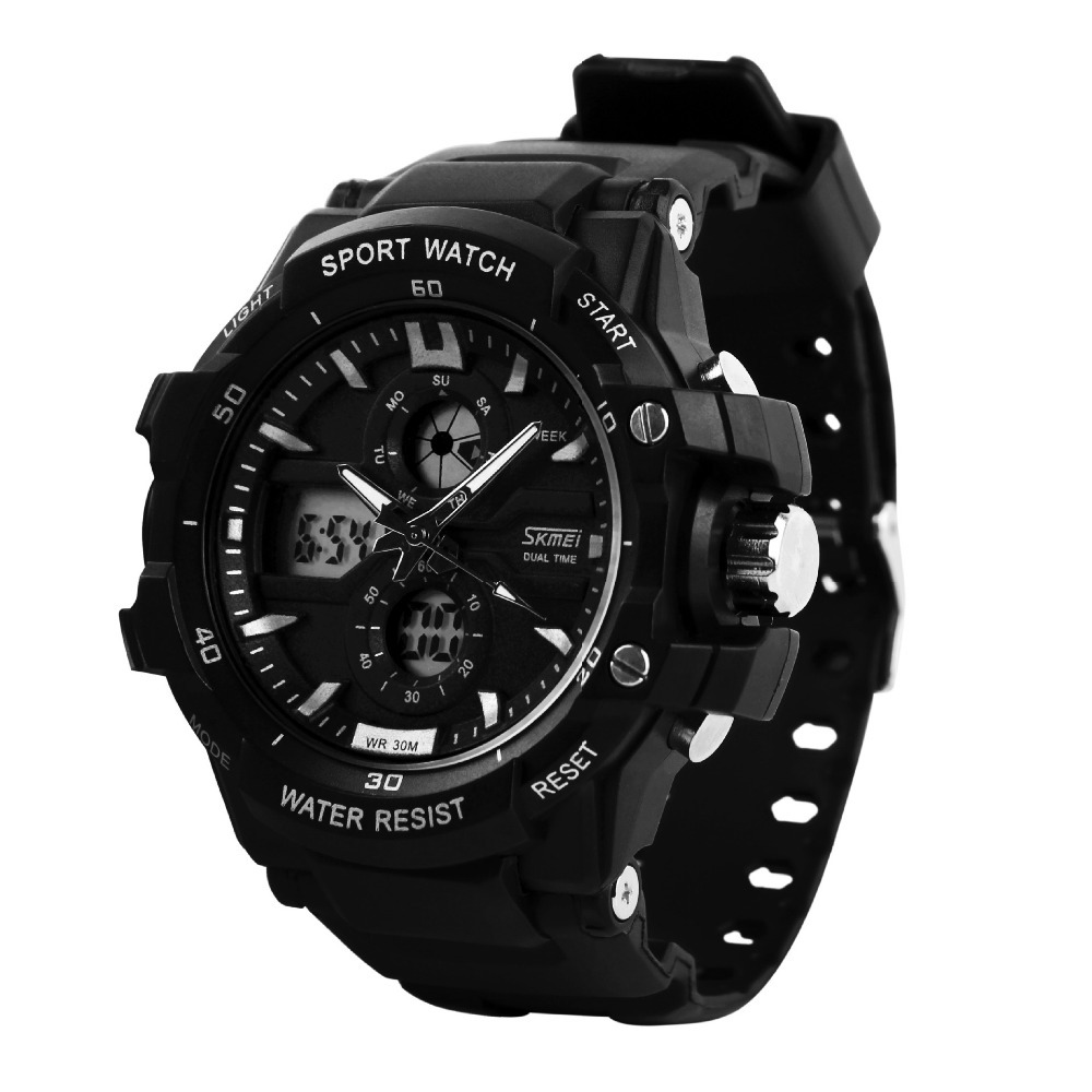 with sports dual waterproof watches men multi led functional black digital s analog face wrist sport outdoor watch kossfer big products military mens time