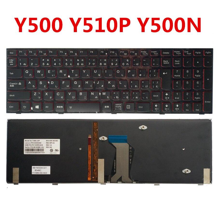 New Original Laptop Keyboard For Lenovo Y500 Y510P Y500N Y500NT Genuine Replacement Keyboard For Lenovo Y500 Japan Standard