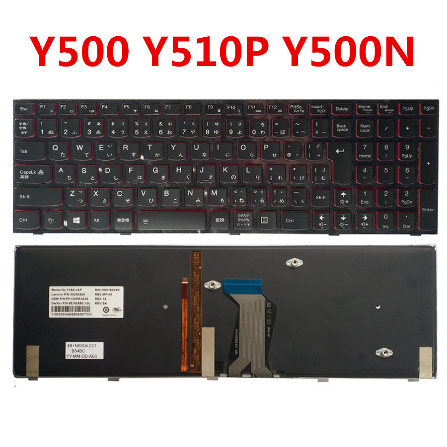 New Original Laptop Keyboard for Lenovo Y500 Y510P Y500N Y500NT Genuine Replacement Keyboard for Lenovo Y500 Japan Standard the new greece for lenovo y500 y510p y500n black with red backlit keyboard