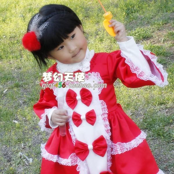 Stella free shipping Baby hair bands child headband hair bands fur big rabbit fur ball red hair band