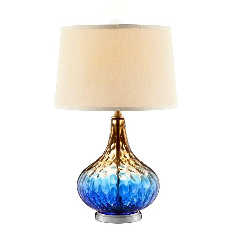 Американский прозрачный синий стекла, настольные лампы Engineering вилла офис lampsliving спальня тумбочка свет za1118608
