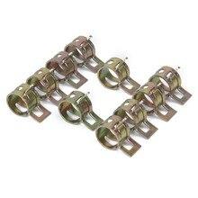 10 шт. 6-15 мм пружинный Тип топливный вакуумный шланг силиконовый трубный зажим стальные оцинкованные зажимы