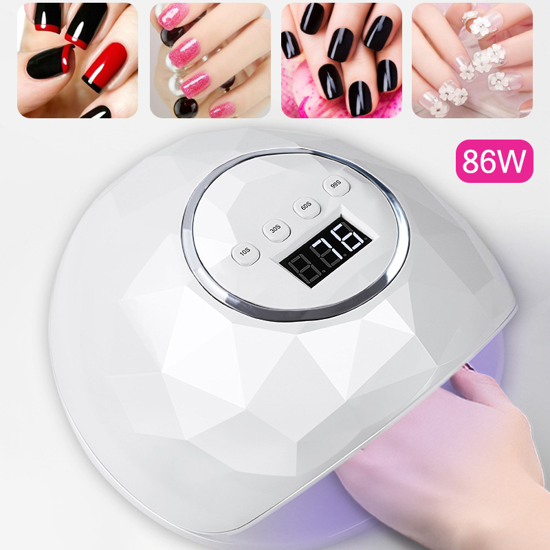 UV LED Nail Dryer Lamp Curing Light 86W Professioanl Phototherapy Lamp Gel Polish Quick Drying Manicure Nail Art Drying Tool image