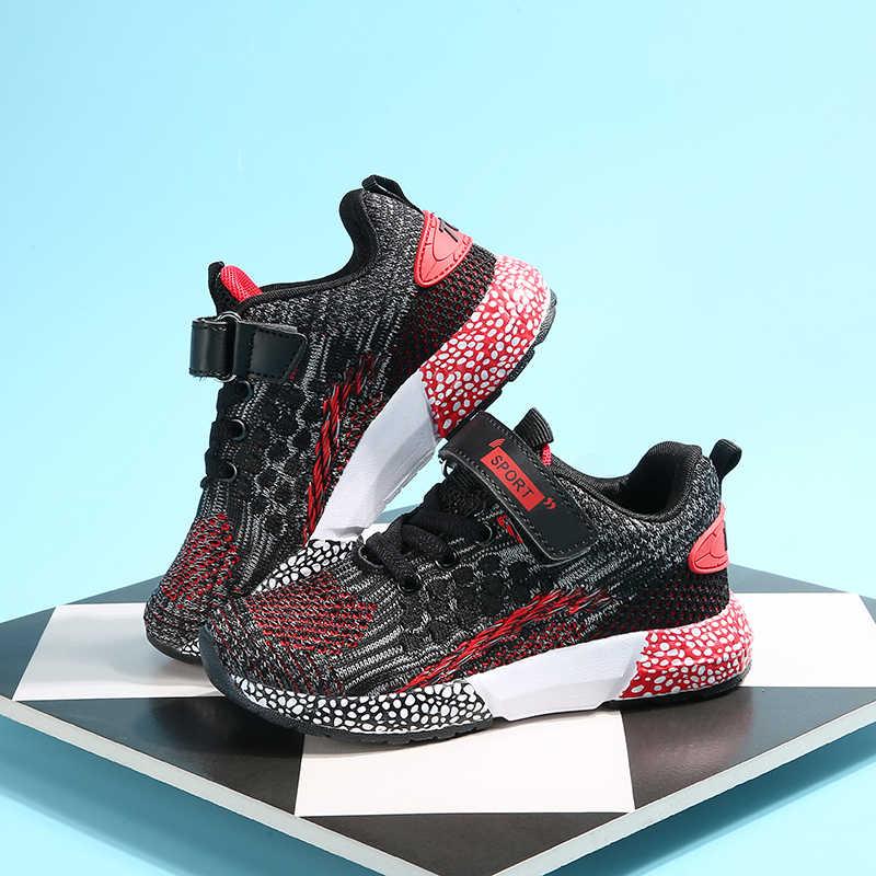 2019 สไตล์ใหม่ตาข่าย Breathable รองเท้าวิ่งรองเท้าเด็กรองเท้าผ้าใบ Boys Girls กีฬากลางแจ้งรองเท้าฤดูร้อนน้ำหนักเบารองเท้าเด็ก