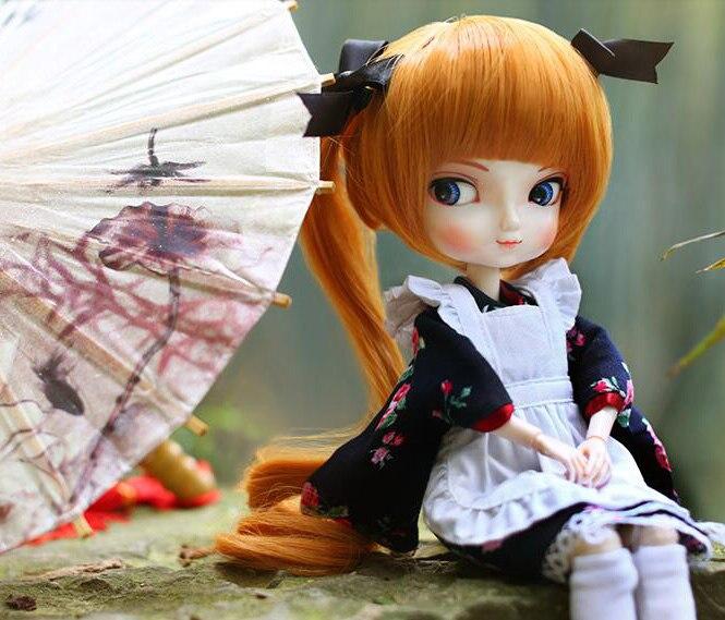 Resin 1//4 BJD doll Pretty Girl Cherry free eyes face make up