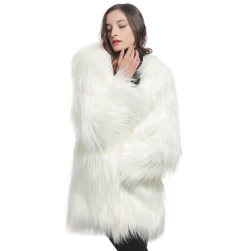 Pecore Modo Del Imitazione Nuove blu il Donne Bianco Vestiti Mongolia Pelliccia Faux Cappotto Delle 2018 Di Nero grigio UVzMqSLpG