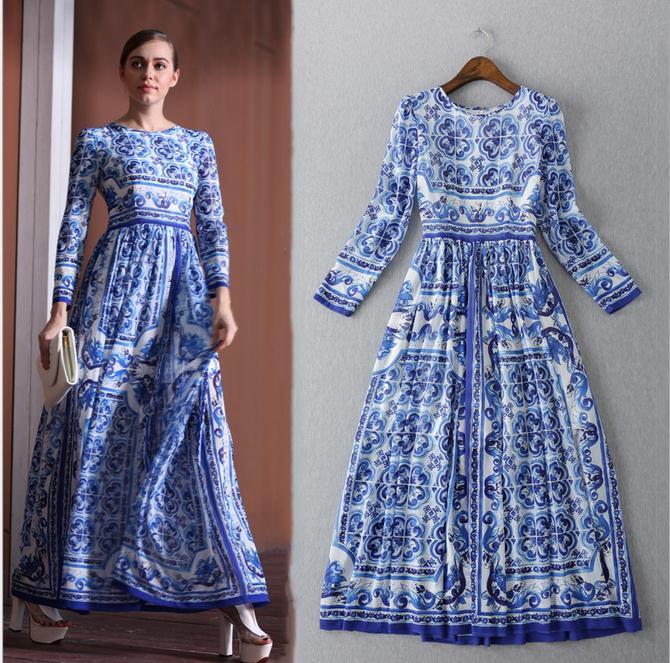HIGH QUALITY New 2017 Fashion Women's Long Sleeve Vintage ...