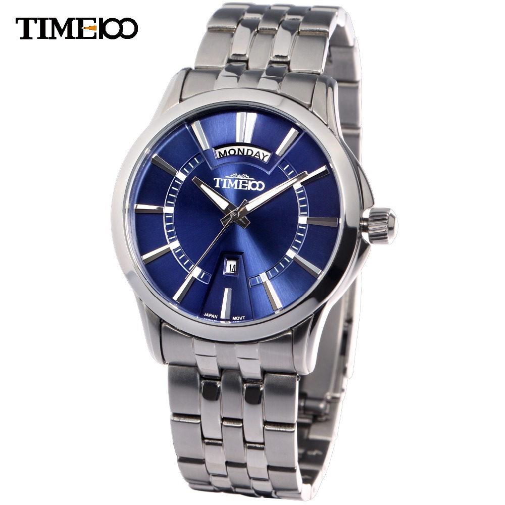TIME100 Classic Men Business Quartz Watch Brand Analog Stainless Steel Strap Wristwatch Classic relogio masculino тонарм scheu analog scheu classic mkii 10