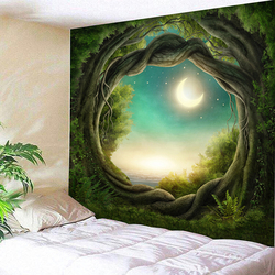 Sale 3d Nature Tree Sandy Beach Tent High Quality For Indian Mandala Hanging Wall Art Hole Tapestry Carpet Large Free Shipping