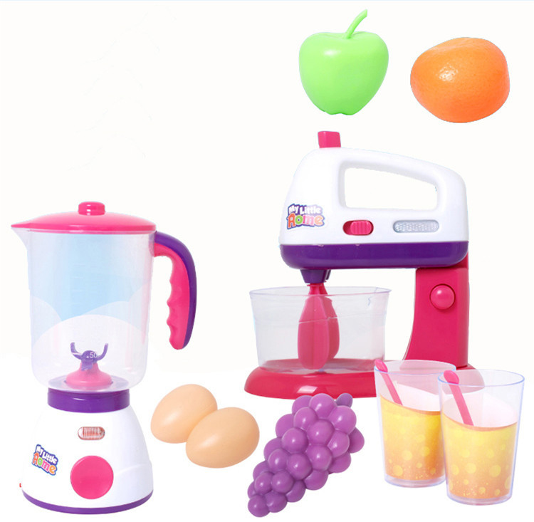 Plasitc play house toy juicer mixer fruit miniature - Cocina juguete aliexpress ...