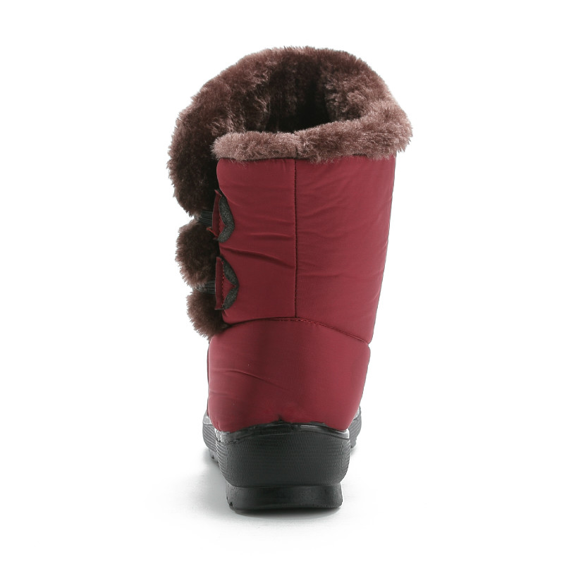 Fujin Snow Boots 2019 New Classic Heels Suede Women Winter Boots Warm Fur Plush Insole causal Boots Women Shoes Hot Shoes Female in Mid Calf Boots from Shoes