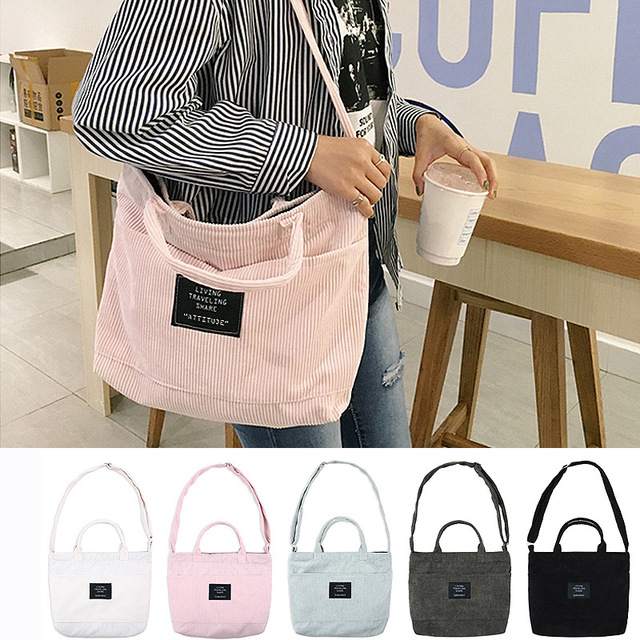 2017 The New Korean Version Of Corduroy Single Shoulder Bag Literary And Artistic Handbag