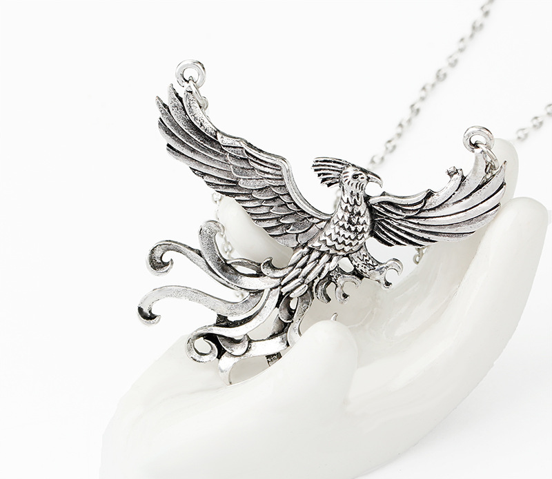 2017 new fashion phoenix fire bird necklace vintage antique silver 2017 new fashion phoenix fire bird necklace vintage antique silver firebird pendant jewelry for men and women wholesale in pendant necklaces from jewelry aloadofball Images