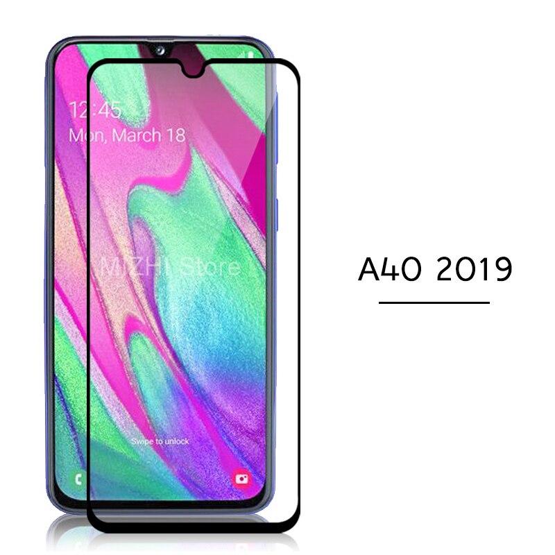 Couverture complète pour samsung a40 2019 protecteur d'écran trempé verre sur pour samsung galaxy a40 a 40 40a a405f 5.9 pouces film de boîtier