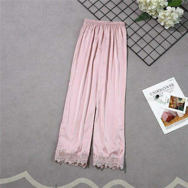 Новые стильные женские длинные штаны Весна Лето Повседневная шелковистая Домашняя одежда пижама брюки для ванной m-xl