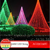 Free Shipping 100m 600leds Flasher Lamp Christmas Tree Decoration Outdoor Indoor Waterproof Wedding Party Twinkle Fairy